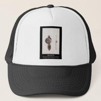 When One Door Closes Another Opens Poster Trucker Hat