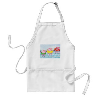 When Piglets Float  - Swimming Pigs Adult Apron