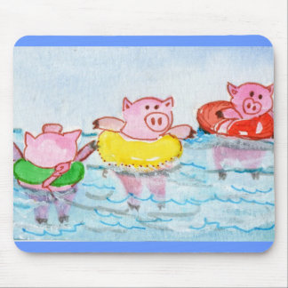 When Piglets Float  - Swimming Pigs Mouse Pad