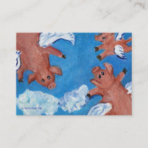 When Pigs and a Piglet Fly Business Cards