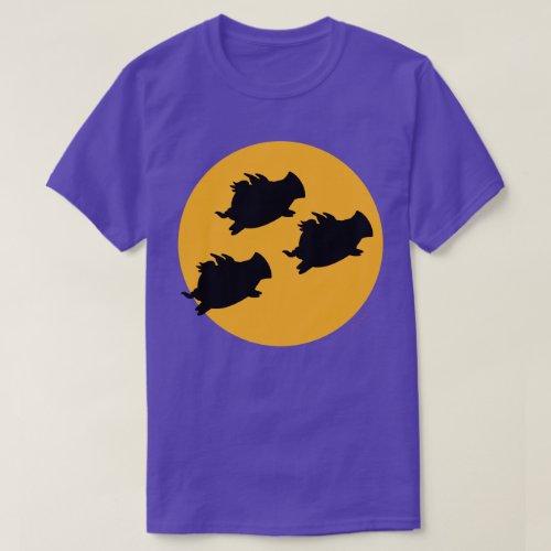 WHEN PIGS FLY ACROSS THE MOON by Sandra Boynton T_Shirt