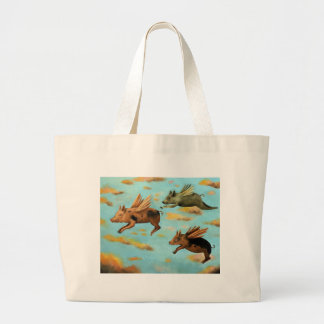 When Pigs Fly Canvas Bags