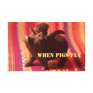 When Pigs Fly Canvas Wall Art