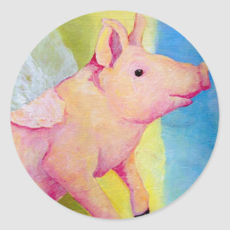 When Pigs Fly Classic Round Sticker