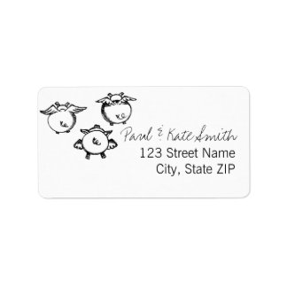 When Pigs Fly Custom Address Labels