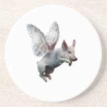 When Pigs Fly Drink Coaster