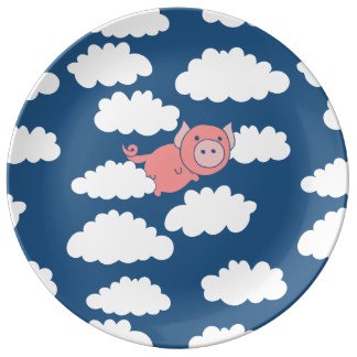 When pigs fly flying pig plate