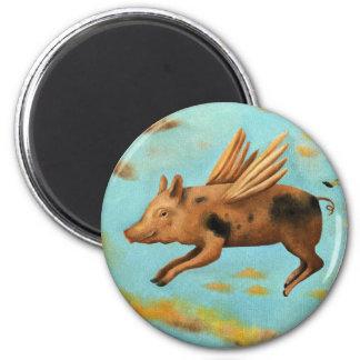 When Pigs Fly Fridge Magnet