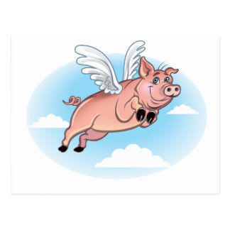 When Pigs Fly, Fun Happens Postcard