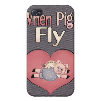 When Pigs Fly Fun Speck Case iPhone 4 Covers For iPhone 4