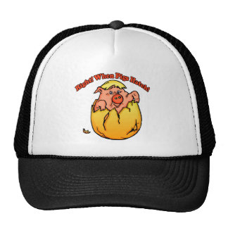 When Pigs Fly Funny T-shirts Gifts Trucker Hat