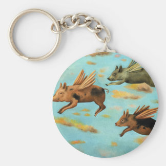 When Pigs Fly Keychain