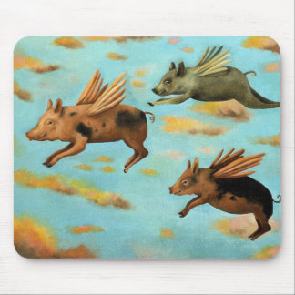 When Pigs Fly Mousepads