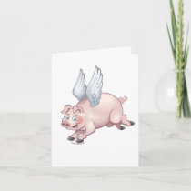 When Pigs Fly notecard