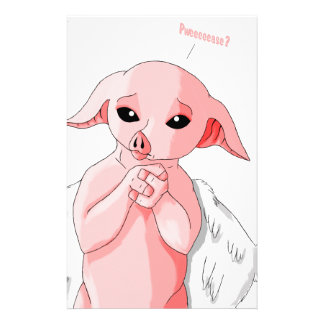 When Pigs Fly Personalized Stationery