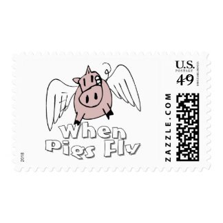 When Pigs Fly Postage