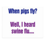 When pigs fly? postcard