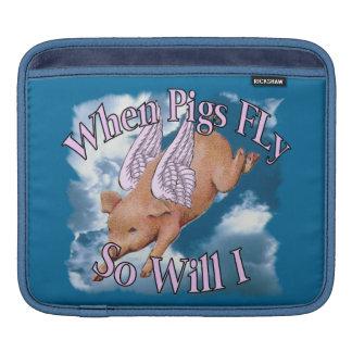 When Pigs Fly Rickshaw Sleeve iPad Sleeve