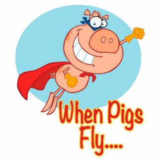 when pigs fly super hero flying piggy pig cartoon photo cutouts
