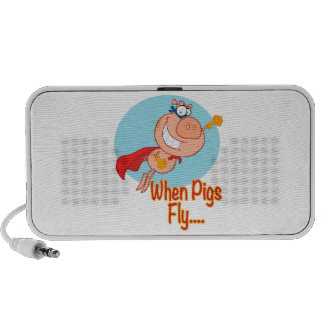 when pigs fly super hero flying piggy pig cartoon speakers