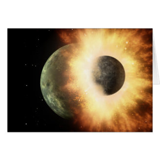 When Planets Collide Greeting Card