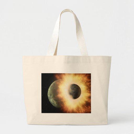 When Planets Collide Jumbo Tote Bag