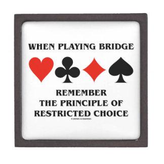 When Playing Bridge Principle Of Restricted Choice Keepsake Box