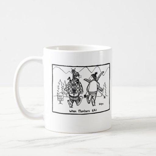 When plumbers ski coffee mug