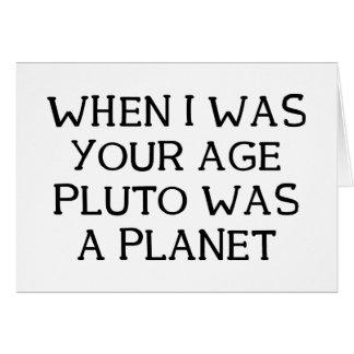 When Pluto Card