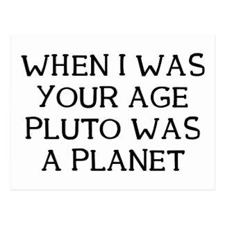 When Pluto Postcard