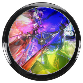 When Rainbows Collide Aquarium Clocks