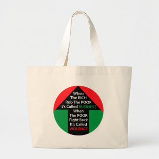 When RICH Rob POOR Called BUSINESS Poor Fight Back Canvas Bag