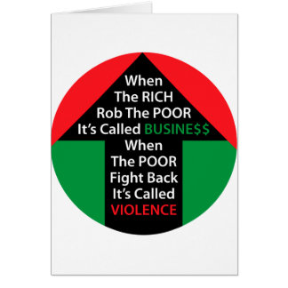 When RICH Rob POOR Called BUSINESS Poor Fight Back Card