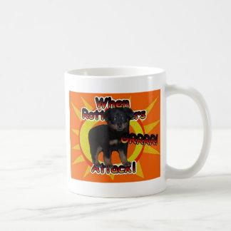 When Rottweiler Pups Attack Growl Mug