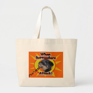 When Rottweilers Attack Jumbo Tote Bag