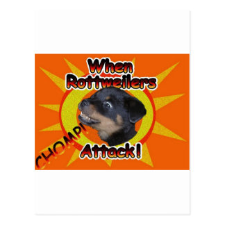 When Rottweilers Attack Postcard