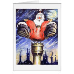 When Santa Got Stuck In The Chimney Greeting Card