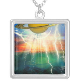 When Saturn Ruled The World Silver Plated Necklace