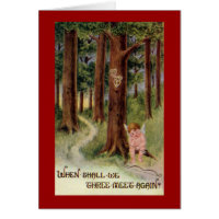 When Shall We Meet Vintage Valentine Card