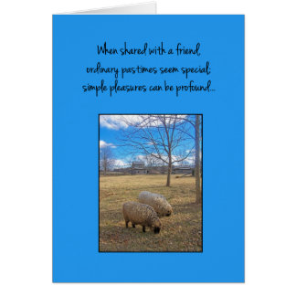 When shared with a friend... card