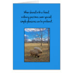 When shared with a friend... greeting card