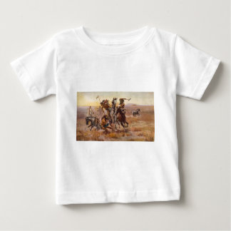 When Sioux and Blackfeet Met by Charles M. Russell Baby T-Shirt