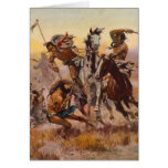 When Sioux and Blackfeet Met by Charles M. Russell Cards