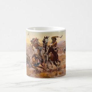 When Sioux and Blackfeet Met by Charles M. Russell Coffee Mug
