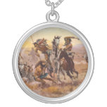 When Sioux and Blackfeet Met by Charles M. Russell Jewelry