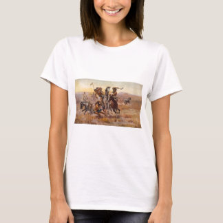 When Sioux and Blackfeet Met by Charles M. Russell T-Shirt