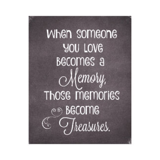 When Someone You Love Becomes a Memory Quote Canvas Print