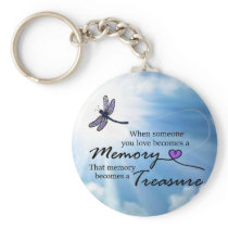 When someone you love, dragonfly keychain