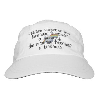 When someone you treasure becomes a memory... headsweats hat