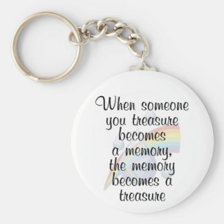 When someone you treasure becomes a memory... keychain